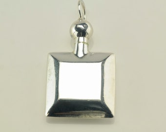 Vintage Minimalist Sterling Silver Pendant 1 2/5 Inch Tall