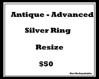 Antique & Difficult Silver Ring Resize