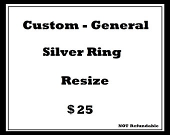 Simple Silver Ring Resize