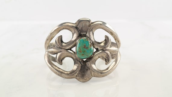 Vintage Native American Sterling Silver Sandcast Pin #746
