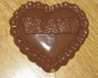 Te Amo Heart Lolly Chocolate Mold