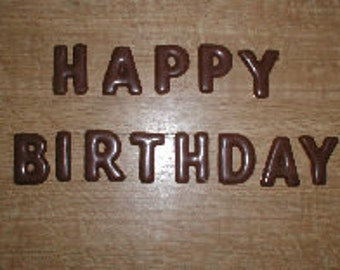 Happy Birthday Letters  Chocolate Mold