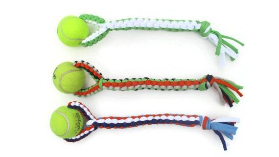 Dog Toy Medium Large Upcycled T Shirts And Tennis Ball Etsy