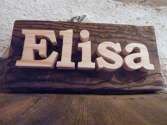 Panneau personnalisable, ecriteau sur mesure, prénom en bois, panneau personnalisé porte de chambre.