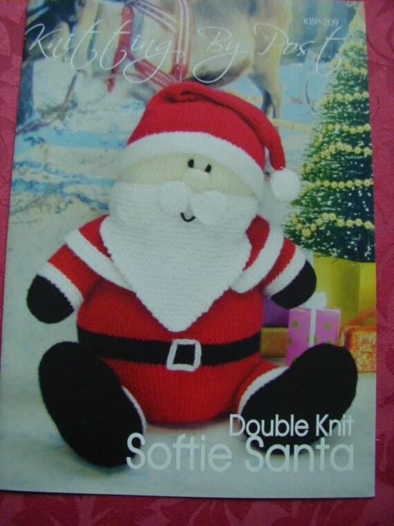 Softie Santa Knitting Pattern In Dk Etsy
