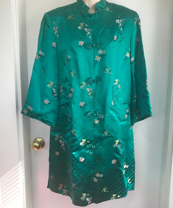 Vintage Chinese teal dress/tunic
