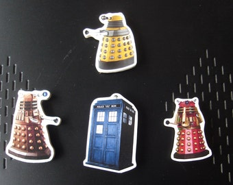 Set of four Dr Who Magnets