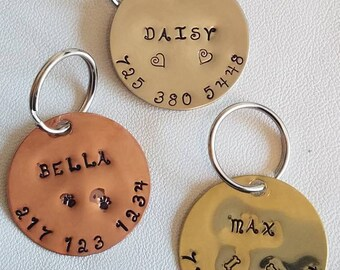 engraved dog tag etsy