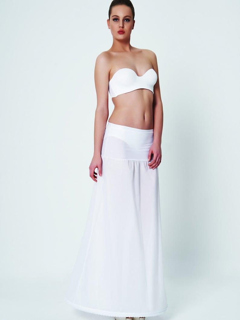 white A line petti bridal hoop bridal slip Wedding Petticoat