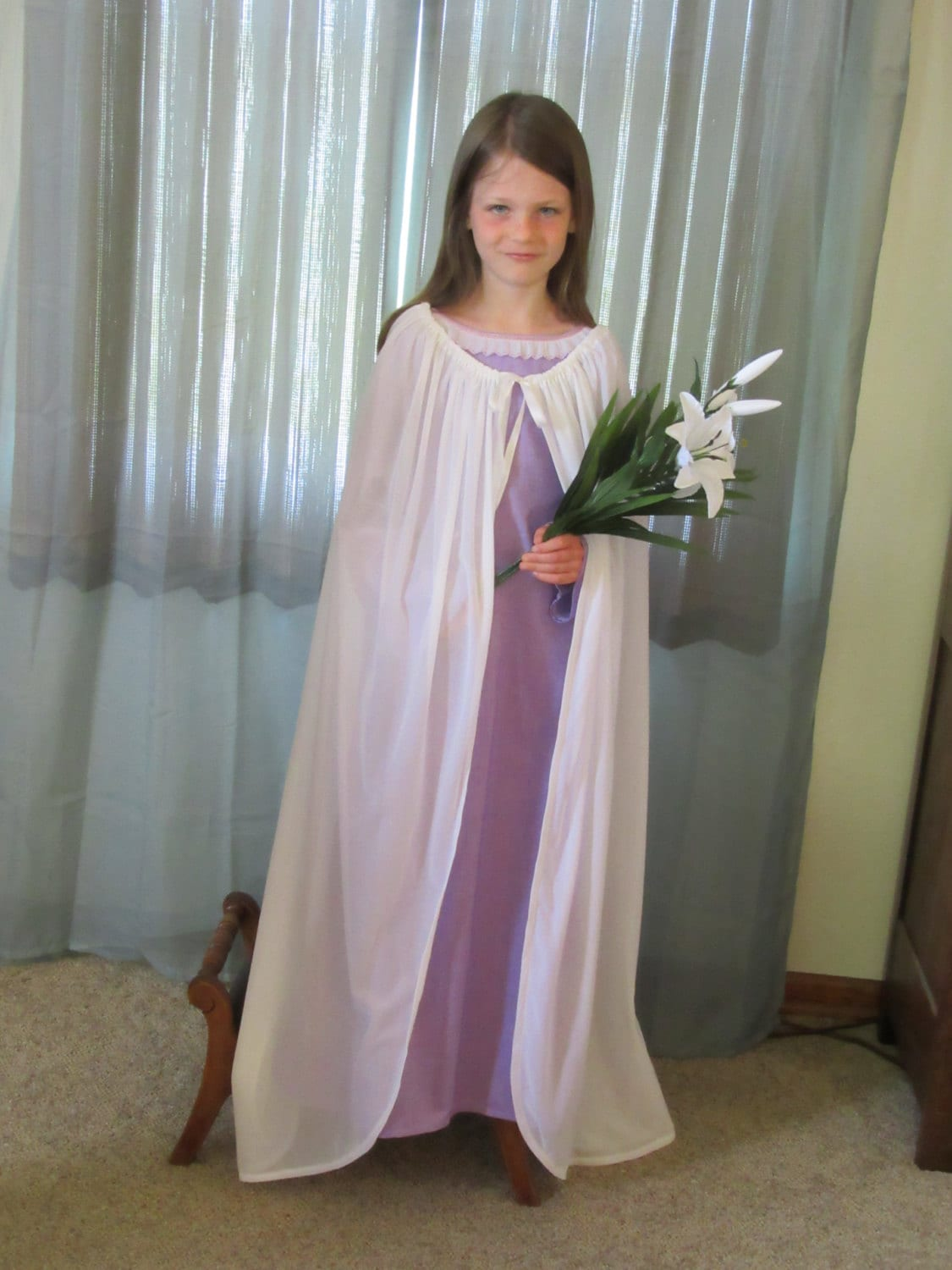St. Maria Goretti Costume for Girls with Palm Frond and Lily | Etsy