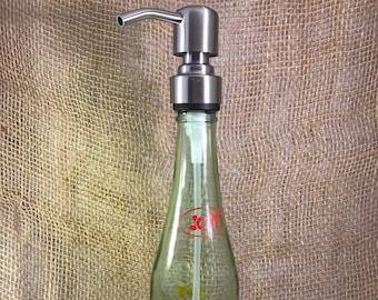 Dispenser for Soap Repurposed Vintage Jolt Bottle 12 Fl Oz Stainless Steel