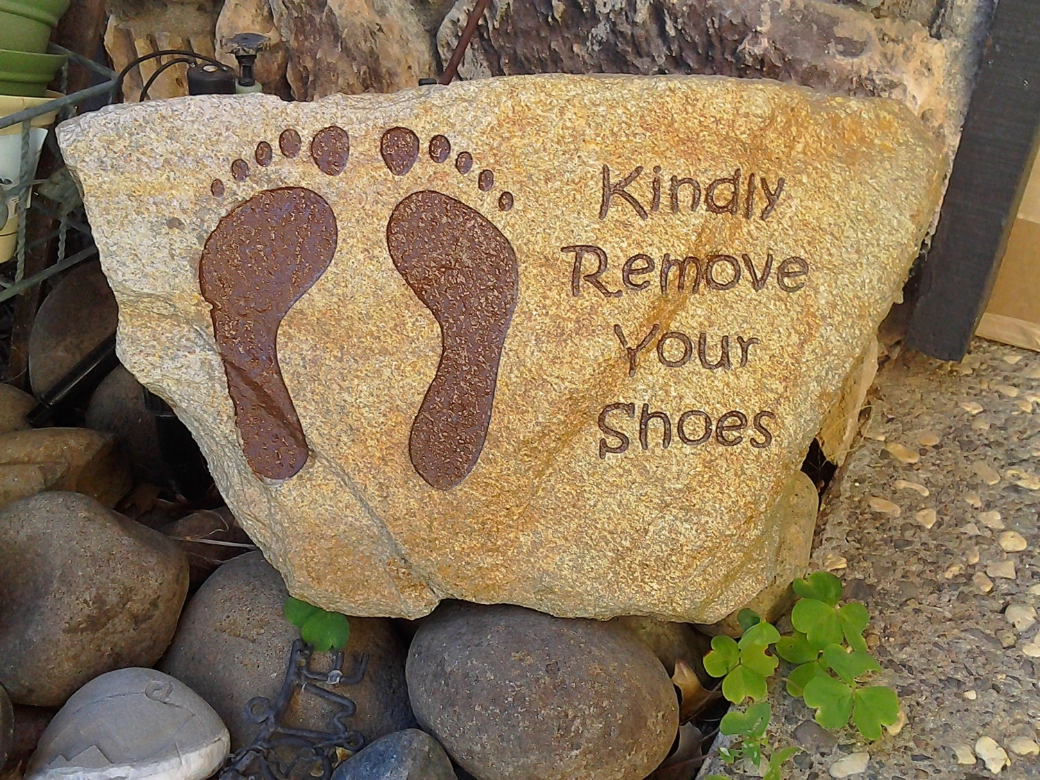 Engraved StonesKindly Remove Your Shoesremove your shoes | Etsy