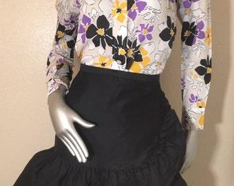 60s mod floral print button down