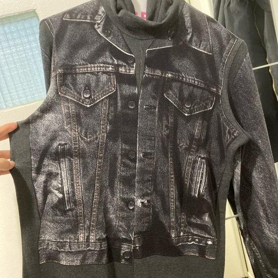 Gaultier jeans early 90s trompe l'œil charcoal tur