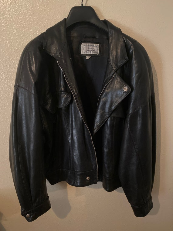 Claude Montana lamb leather jacket