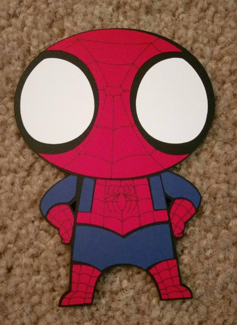 Marvels The Avengers Spiderman Single Sided Kawaii Etsy