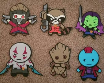 Marvel's Guardians of the Galaxy - Kawaii Style - Die Cut Set - Front/Back