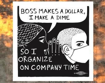 Worker Whisper Sticker