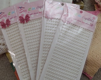 supply cards diy decorative Stick on Faux Pearls