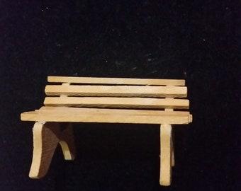 Wooden Park Bench Miniature figurine