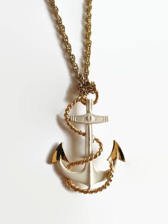 Vintage Anchor Brooch Pendant