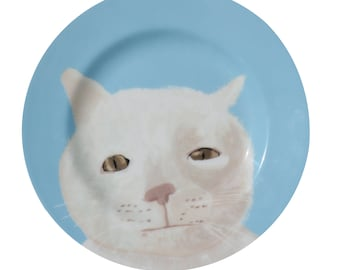 Blue 'Mr Marmalade'  Fine Bone China full colour Plate by Giddypup