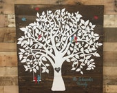 Wooden Recycled pallet Family tree sign, wedding anniversary gift, wedding pallet sign, reclaimed wood sign, pallet sign