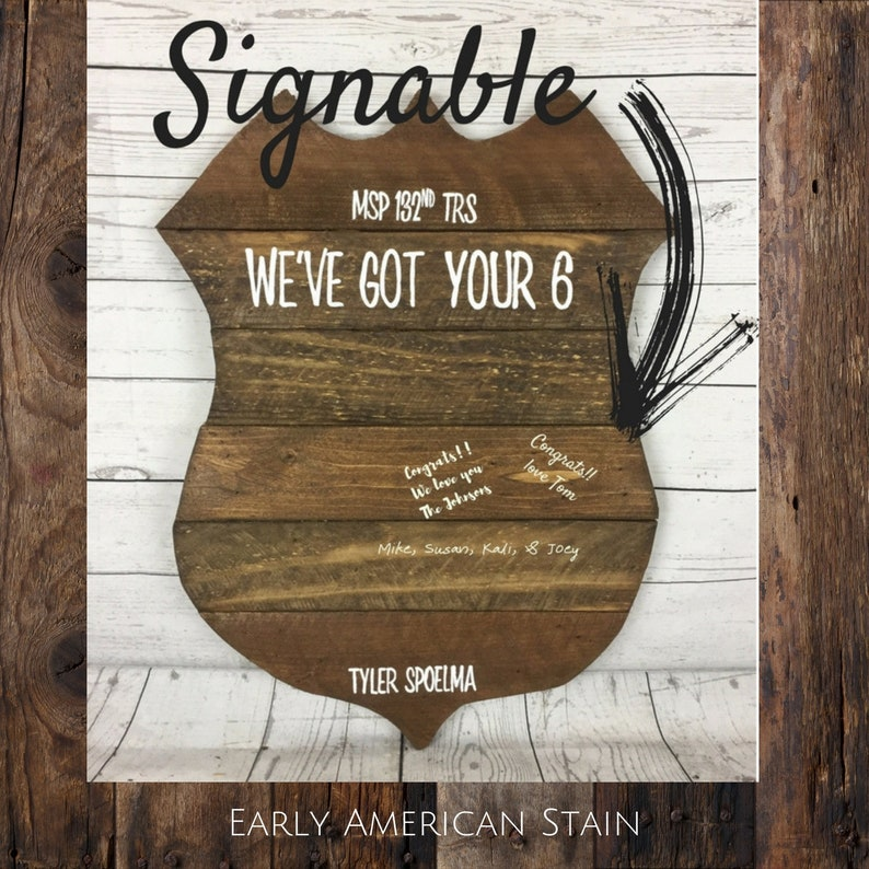 Personalized Police Badge Graduation Or Promotion Guest Book Party Decor Class Of 2019 Police Academy Sign In Book We Got Your 6 Gift