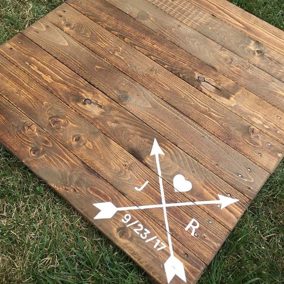 for wedding planner Wedding arrow sign wood crossed arrows reclaimed Pallet alternative guest book wood Arrow sign wall art barnwood