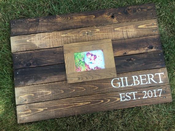 Wood Pallet Wedding Alternative Guest Book Sign