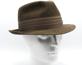 Vintage Rat Pack Style Hat, West End Hat, Fedora Hat, Trilby Hat, Men's Hat