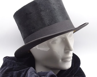 ec761174d0b623 Antique Top Hat with Scarf and Gloves, Carel Netto Top Hat, Antique Costume  Top Hat, Opera Costume, Men's Accessories