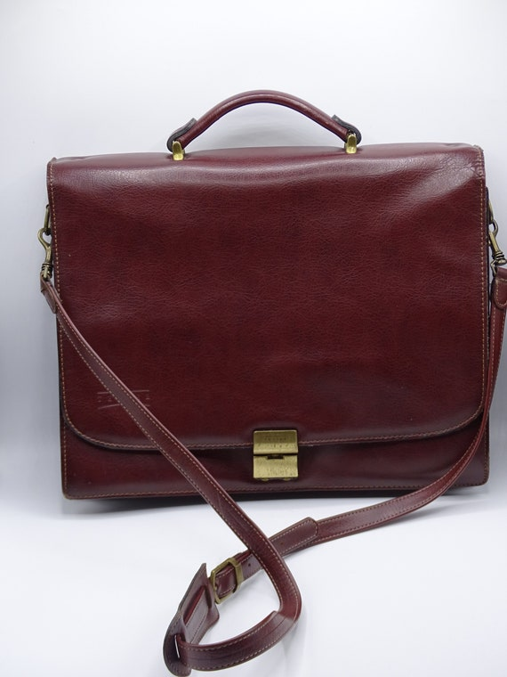 4fbc24ddd4 Texier Leather Briefcase Brown Leather Briefcase with