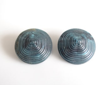 Piramid Shaped Buttons, Teal Buttons