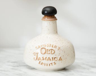 Sangster's Old Jamaican Spirits Genuine Stoneware Bottle - Collectible Rum Liqueur Bottle