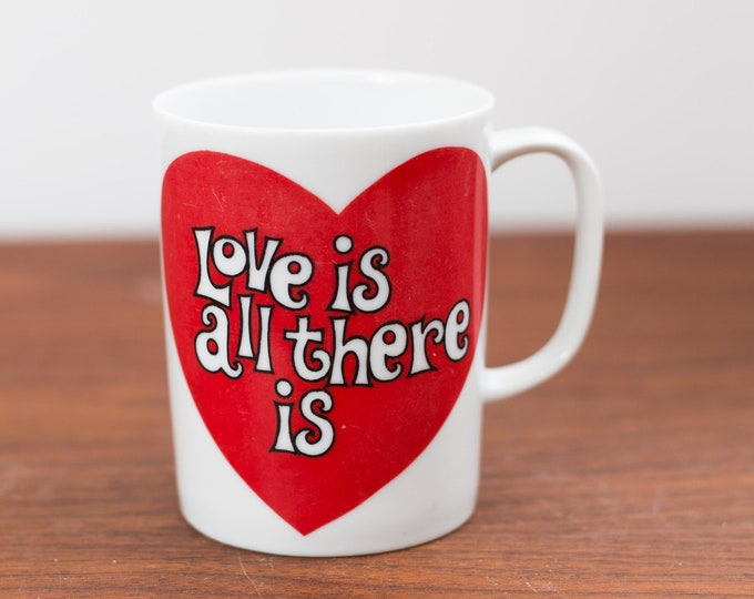 Vintage Love Mug -Collectible Ceramic Coffee or Tea Mug - Vintage Heart Mug - Valentines Day Mug