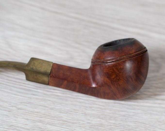 Vintage Pipe - Hand Carved Wood Tobacco Pipe - Gift for Dad - Father's Day Gift