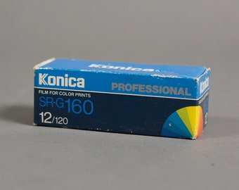 Konica 120 Film - SR-G160 - Roll of Vintage Professional Expired Color Film from the 90's - 12 exposures - 6 x 6cm - Made in Japan