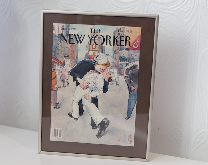 Vintage June 16, 1996 The New Yorker Sailors Gay Kiss - Front Page