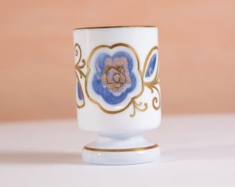 Antique Candle Holder - Vintage Art Deco Glass Decor - Granny Chic Mid Century Modern Home