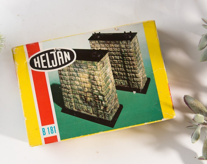 Vintage Heljan Toy -  Made in Denmark Collectible Building Toy - B 181 Onskes BroPillar Plastic Model - Brucken- Pfeiler Model Kit