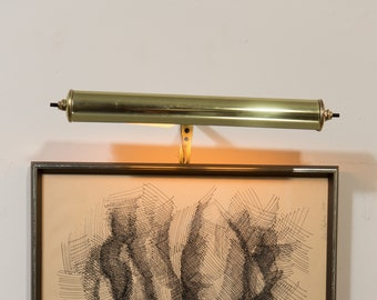 Wall Picture Light - Vintage Brass Adjustable Metal Painting / Artwork Tube Lamp
