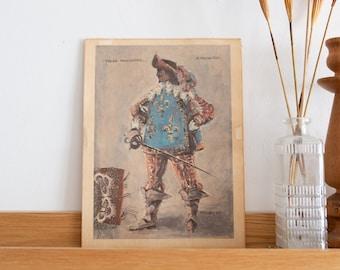 Thee Musketeer, Heeley '68 - Artwork Print - Vintage Artwork of Man Painting on Canvas - Minimalist Art