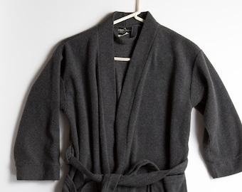 Kids Bath Robe - Vintage Grey Boys Dressing Gown / Toddler Lounge Robe