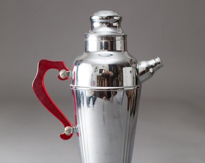 Chrome Martini Pitcher - Vintage Metal Coffee Federal Precision Space Age Atomic Barware - Metallic Decor