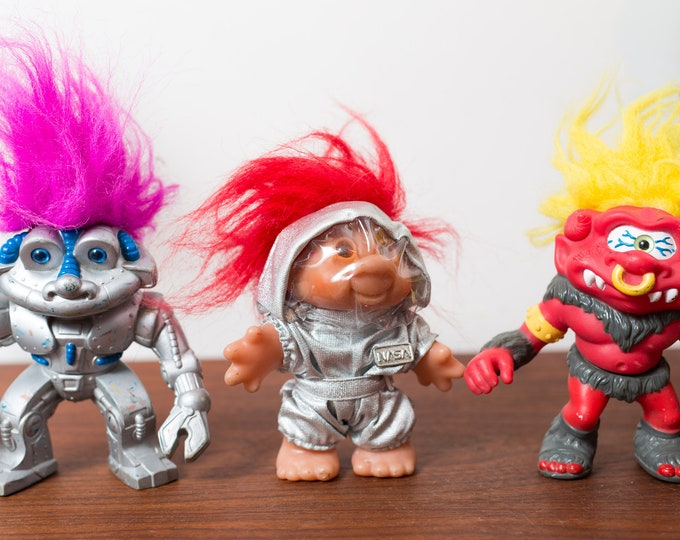 Vintage Troll Dolls - 1980s and 90's Troll Dolls - Nasa Space suit and Others