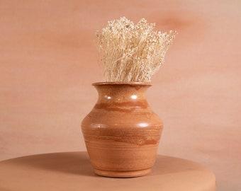 Brown Ceramic Pot - Handmade Studio Ceramic Vintage Earthtone Plant Pot - Boho Modern Decor