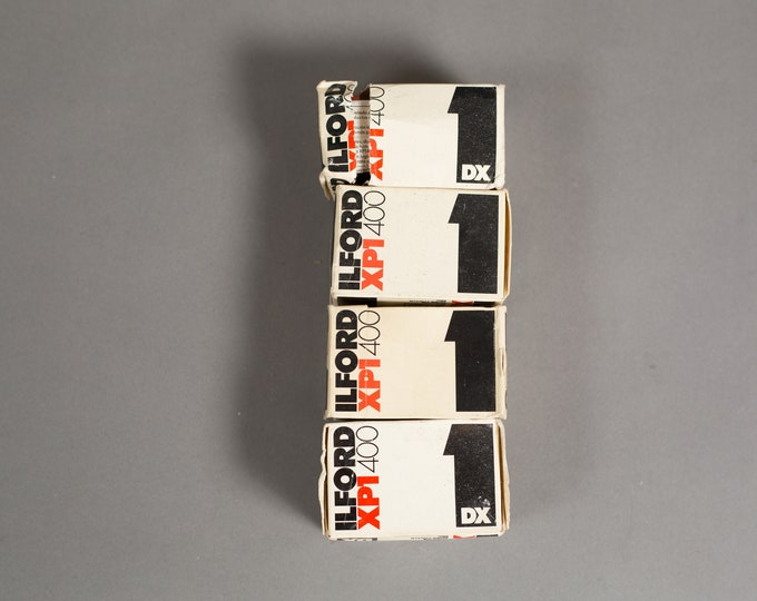 Vintage 24x36mm Film - 4 Rolls  Ilford XPI 400 Film - ISO 400 - Made in England - Process C41 - Professional Quality Expired Film