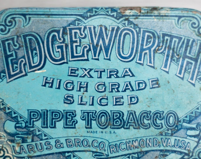 Edgeworth Sliced Pipe Tobacco Tin Canister / Extra high grade