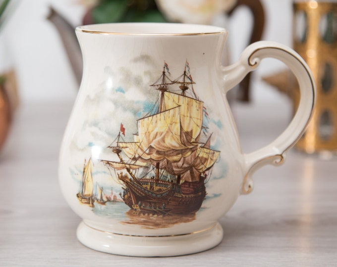 Nautical Ship Pitcher / Sadler Stein Made in England / Sailboat Sailing Sailboat Design